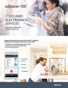 Consumer Electronics Services Brochure