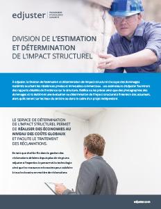 Division de l'estimation et determination de l'impact structurel